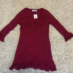 uo grace ruffle mini dress